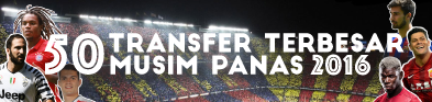 50 Transfer Terbesar Musim Panas 2016